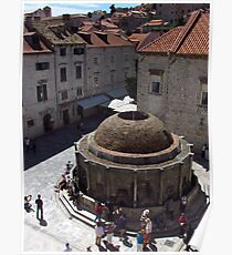 Onofrio Fountain, Dubrovnik Poster