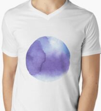 watercolor stains, background, design element, pattern. Men's V-Neck T-Shirt