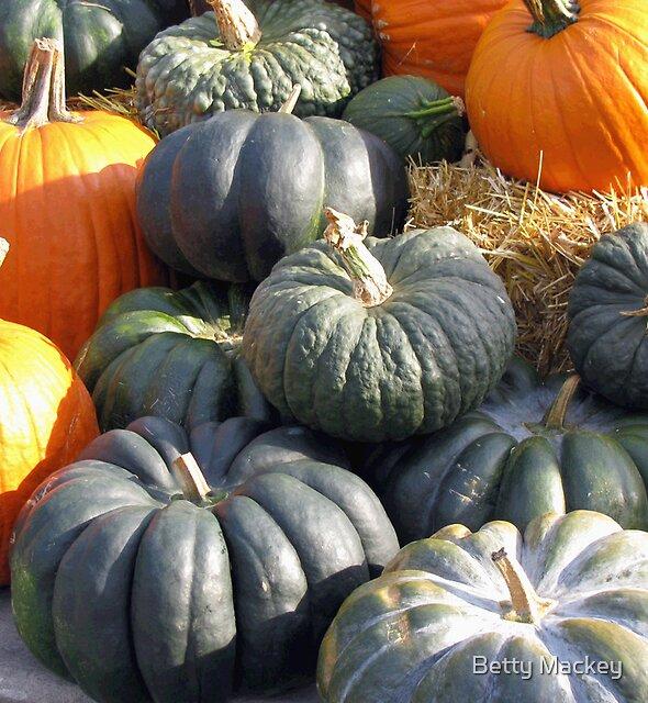 Green Pumpkins by Betty Mackey