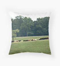 """""""When The Cows Come Home"""" Throw Pillow"""