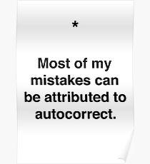 Autocorrect! Poster