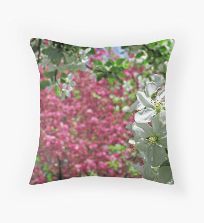 May Blossoms Throw Pillow