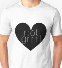Riot Grrrl - White Text Unisex T-Shirt