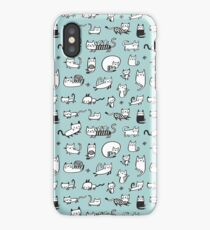Blue Kitties iPhone Case
