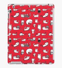 Red Kitties iPad Case/Skin