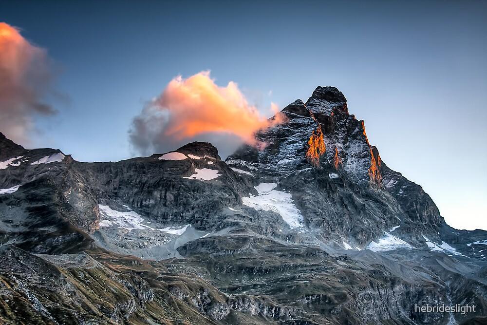 First Light on The Matterhorn by hebrideslight
