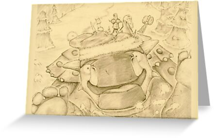 Ankylosaur Sledding by Bart Castle