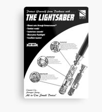 Star Wars Lightsaber Retro Ad Metal Print