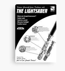 Star Wars Lightsaber Retro Ad Canvas Print