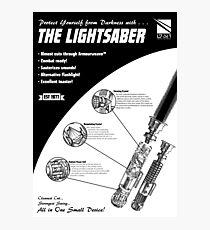 Star Wars Lightsaber Retro Ad Photographic Print