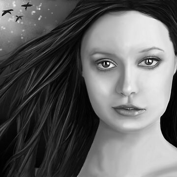 Summer Glau - The girl with the beautiful face B&W by Nowhereman78