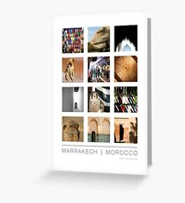 Marrakech, Morocco Poster Greeting Card
