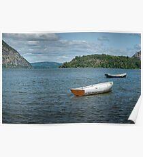 Boats On Hudson River Poster