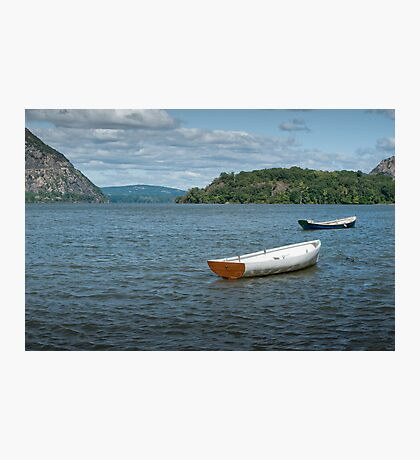 Boats On Hudson River Photographic Print