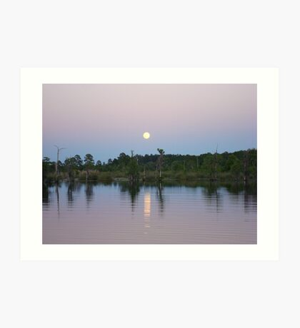MOONRISE ON BEAR CREEK Art Print