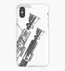 Star Wars Lightsaber Schematics iPhone Case