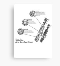 Star Wars Lightsaber Schematics Canvas Print