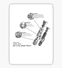 Star Wars Lightsaber Schematics Sticker