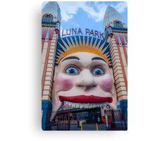 Luna Park entrance Canvas Print