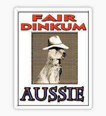FAIR DINKUM Sticker