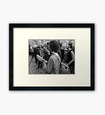 Gonski Protests Framed Print