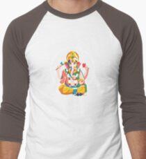 Lord Ganesh - Hindu God - Geometric Avatar Men's Baseball ¾ T-Shirt