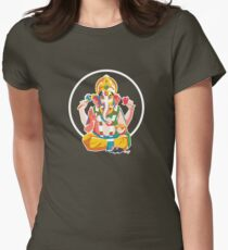 Lord Ganesh - Hindu God - Geometric Avatar Women's Fitted T-Shirt
