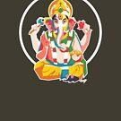 Lord Ganesh - Hindu God - Geometric Avatar by hinducloud