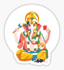 Lord Ganesh - Hindu God - Geometric Avatar Sticker