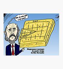 Ben Bernanke et le gaufre belge Photographic Print