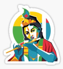 Lord Krishna - Hindu God - Geometric Avatar Sticker