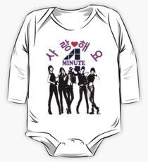 ㋡♥♫SaRangHaeYo(Love) Hot Fabulous K-Pop Girl Group-4Minute Clothing & Stickers♪♥㋡ One Piece - Long Sleeve