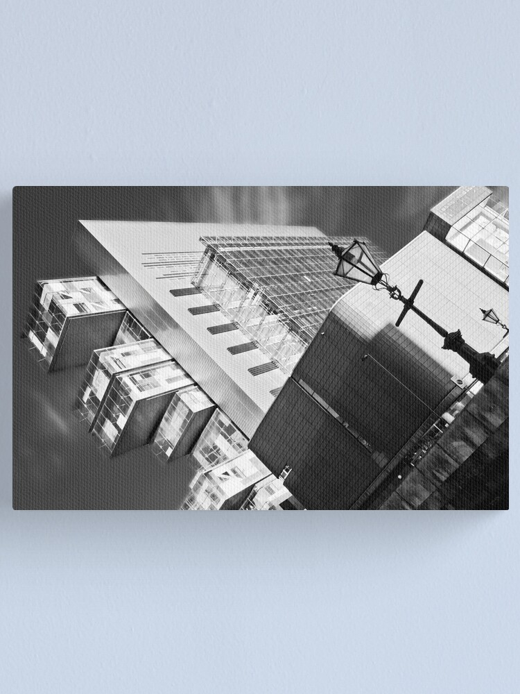 Alternate view of Manchester's civil justice law courts. (B&W) Canvas Print