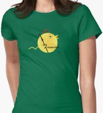 Crochet chick crochet hook ball of yarn funny t-shirt Womens Fitted T-Shirt