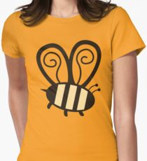 Giant cute bumble bee insect t-shirt Women's Fitted T-Shirt