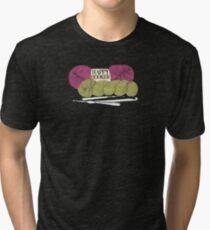 happy hooker crochet hook yarn hank skein Tri-blend T-Shirt