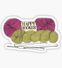 happy hooker crochet hook yarn hank skein Sticker