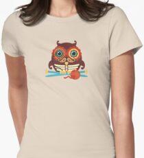 knitting needles owl paisley mustache steampunk skeleton T-Shirt