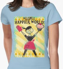 Happier World retro baking cupcake poster T-Shirt