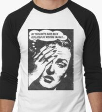 Vintage Pop Art Ad- Thoughts and Imagery Men's Baseball ¾ T-Shirt