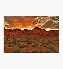 Explosive Sunset - Valley of Fire Photographic Print