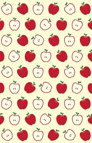 """Cute Apple Picture Pattern"" by thejoyker1986 