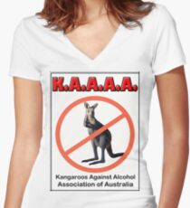 THE K.A.A.A.A. Women's Fitted V-Neck T-Shirt
