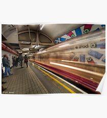 Speed of light- London Underground Poster