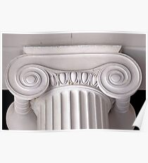 ionic architectural column Poster