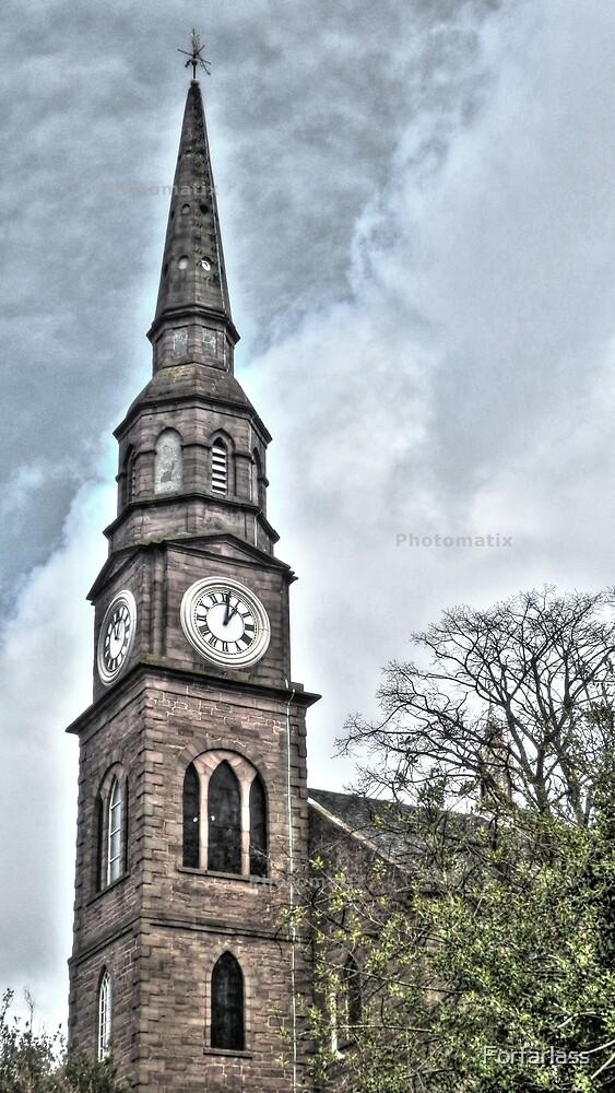 Church Clock by Forfarlass