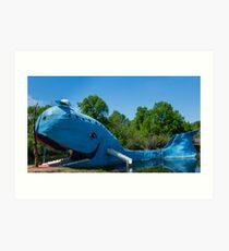 Ol' Blue, the blue whale on Route 66, Catoosa, OK Art Print