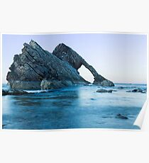 Bow Fiddle Rock, Portknockie, North East Scotland Poster