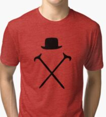 Bowler Hat and Canes T Shirt Tri-blend T-Shirt