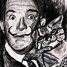 drawing of Salvador Dali by Followthedon